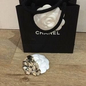 Chanel empty shopping bag with LE flower sticker